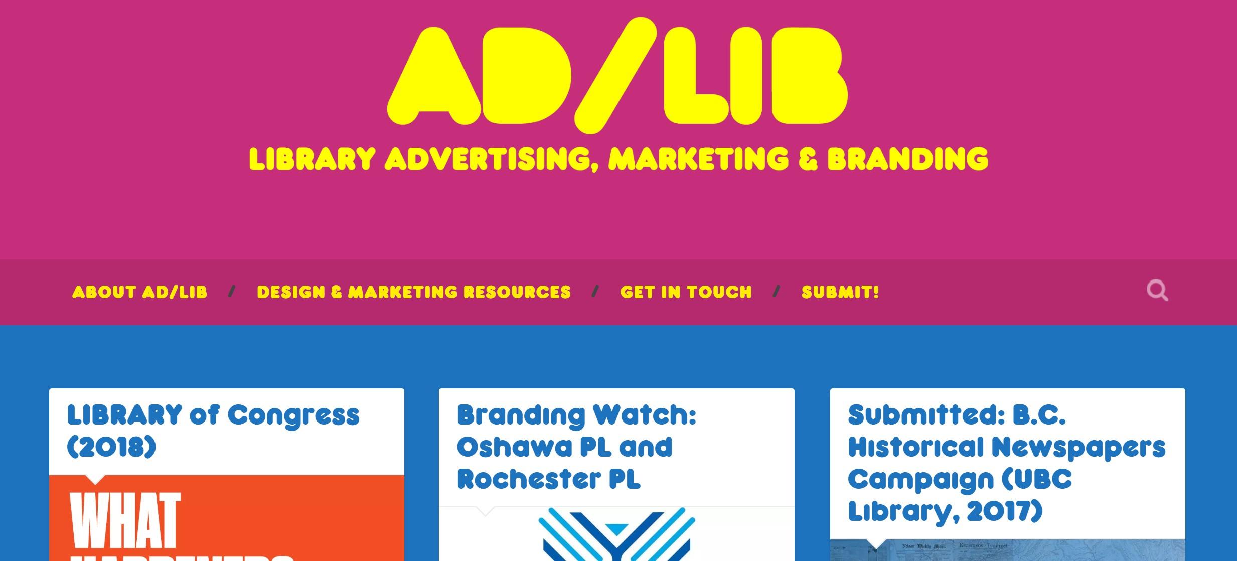 Ad/Lib Library Marketing